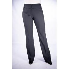Женские брюки  молодежные (155 модель) Костюмка темно-серая