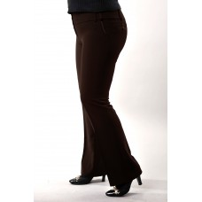 Женские брюки  молодежные  (160 модель) Костюмка темно-коричневая
