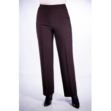 Женские брюки классические (161 модель) Габардин темно-коричневый