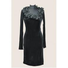 Платье (модель 1п с декором велюр)