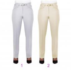 Женские брюки классические (257 модель) Костюмка светлая