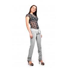 Женские брюки  молодежные (81 модель, костюмка) Светло серая