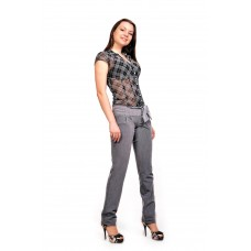 Женские брюки  молодежные (81 модель, костюмка) Серая